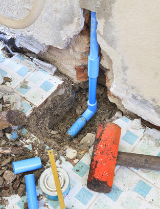 Don't destroy your property with traditional pipe repairs. Go trenchless!