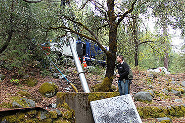 equipment amongst the trees