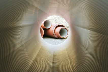 view from inside of a pipe