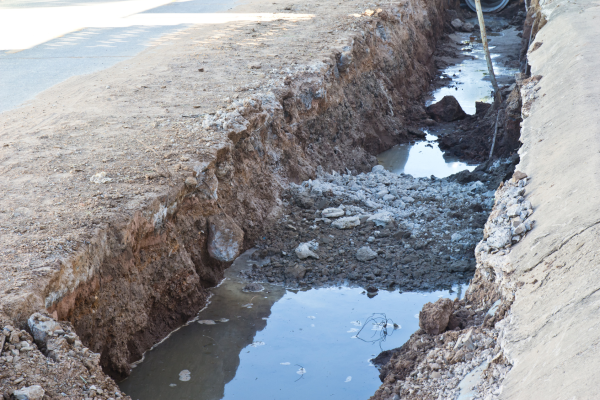 You could save thousands with trenchless by avoiding road repair and shutdown.