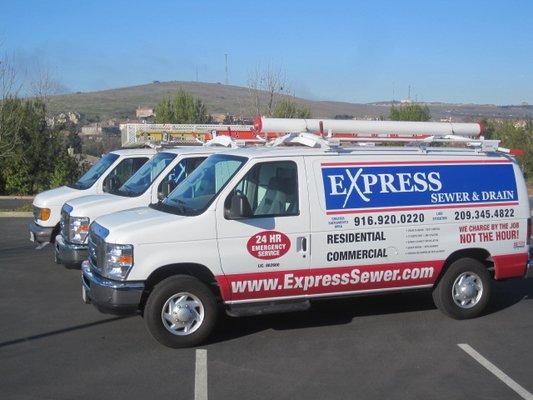 Express Sewer & Drain Plumbing Van