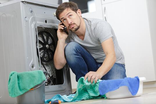 A leaking washing machine hose can cause plenty of flooding and property damage if not fixed.