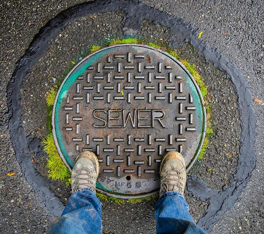 Your city is responsible for problems with the main sewer line.