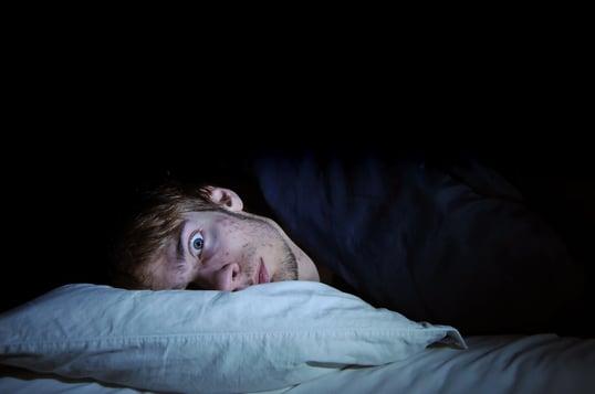 Man awake at night