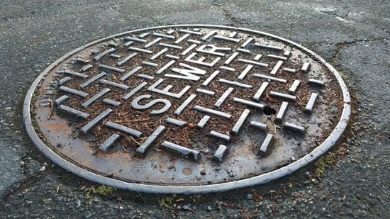 Municipal manhole in Sacramento