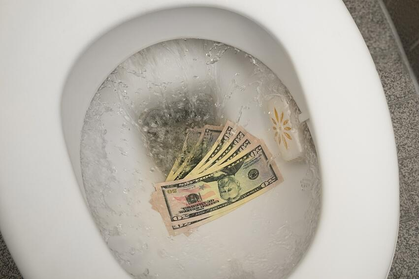 A major cause of a high water bill is a running or leaky toilet